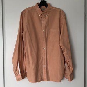 J. Crew Orange check button down shirt